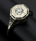 Estate Jewelry:Rings, Art Deco 20k Gold & Diamond Ring. ...