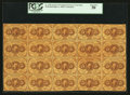 Fractional Currency:First Issue, Fr. 1228 5¢ First Issue Full Sheet of Twenty PCGS About New 50.. ...