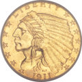 Indian Quarter Eagles, 1911-D $2 1/2 MS63 PCGS....