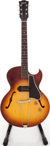 Musical Instruments:Electric Guitars, 1956 Gibson ES-225T Sunburst Semi-Hollow Body Electric Guitar,Factory Order # V7408 35....