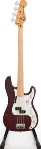 Musical Instruments:Bass Guitars, 1977 Fender Precision Bass Wine Fretless Electric Bass Guitar,Serial # S753793. ...