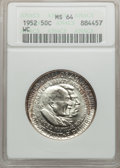 Commemorative Silver: , 1952 50C Washington-Carver MS64 ANACS. NGC Census: (1489/1519). PCGS Population (2062/1440). Mintage: 2,006,292. Numismedia...