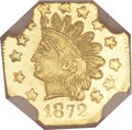 California Fractional Gold, 1872 50C Indian Octagonal 50 Cents, BG-940, R.4, MS67 NGC....