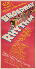 "Movie Posters:Musical, Broadway Rhythm (MGM, 1944). Three Sheet (41"" X 79""). Musical.. ..."