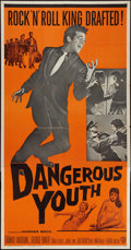 "Movie Posters:Rock and Roll, Dangerous Youth (Warner Brothers, 1958). Three Sheet (41"" X 78.5"").Rock and Roll.. ..."