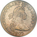 Early Half Dollars, 1803 50C Large 3, Large Reverse Stars XF45 NGC. O-103, R.3....