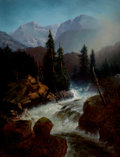 Fine Art - Painting, American:Antique  (Pre 1900), GIDEON JACQUES DENNY (American, 1830-1886). After the Rain, Mt.Shasta, 1864. Oil on canvas. 29-3/4 x 23 inches (75.6 x ...