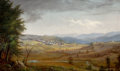 Fine Art - Painting, American:Antique  (Pre 1900), JAMES HOPE (American, 1818-1892). Benson, Rutland County,Vermont, 1879. Oil on canvas. 24 x 40 inches (61.0 x 101.6cm)...