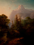 Fine Art - Painting, American:Antique  (Pre 1900), GIDEON JACQUES DENNY (American, 1830-1886). Evening Sun, Mt.Shasta, 1864. Oil on canvas. 29-3/4 x 23 x 2-1/2 inches (75...