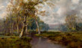 Fine Art - Painting, American, THOMAS BAILEY GRIFFIN (American, 1858-1918). Afternoon Calm. Oil on canvas. 18 x 30 inches (45.7 x 76.2 cm). Signed low...
