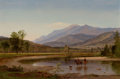Fine Art - Painting, American:Antique  (Pre 1900), SAMUEL LANCASTER GERRY (American, 1813-1891). Fording the Stream(Franconia Mountains, New Hampshire), 1857. Oil on canv...