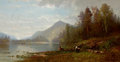 Fine Art - Painting, American:Antique  (Pre 1900), EDWARD B. GAY (American, 1837-1928). Lake Placid, New York,1872. Oil on canvas. 22 x 42 inches (55.9 x 106.7 cm). Signe...