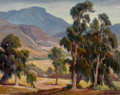 Fine Art - Painting, American:Other , ORPHA MAE KLINKER (American, 1891-1964). Ojai Valley,California. Oil on canvas laid on masonite. 22 x 28 inches(55.9 x...