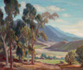 Fine Art - Painting, American, ORPHA MAE KLINKER (American, 1891-1964). Eucalyptus, SierraMadre, CA. Oil on canvas. 25 x 35 inches (63.5 x 88.9 cm). S...