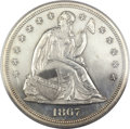 Proof Seated Dollars, 1867 $1 PR63 PCGS....
