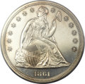 Proof Seated Dollars, 1861 $1 PR62 PCGS....