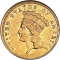 Three Dollar Gold Pieces, 1858 $3 AU53 NGC....