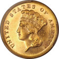 Three Dollar Gold Pieces, 1883 $3 MS64 PCGS Secure....
