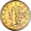 Liberty Double Eagles, 1851-O $20 AU55 PCGS Secure. CAC. Variety 2....