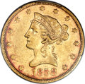 Liberty Eagles, 1858 $10 XF45 PCGS Secure....