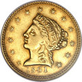 Territorial Gold, 1861 $2 1/2 Clark, Gruber & Co. Quarter Eagle AU58 NGC. K-5,R.4....