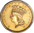 Gold Dollars, 1875 G$1 -- Improperly Cleaned -- NGC Details. Unc....
