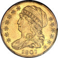 Early Half Eagles, 1807 $5 Bust Left -- Cleaning -- Genuine PCGS. Unc. Details. BD-8,R.2....