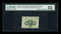 Fractional Currency:First Issue, Fr. 1241 Milton 1R10.2c 10¢ First Issue Inverted Back PMG AboutUncirculated 53....