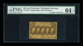 Fractional Currency:First Issue, Fr. 1281 Milton 1R25.4e 25¢ First Issue Inverted Back PMG ChoiceUncirculated 64 EPQ....