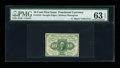Fractional Currency:First Issue, Fr. 1243 Milton 1R10.1e 10¢ First Issue Inverted Back PMG Choice Uncirculated 63 EPQ....