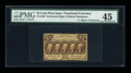 Fractional Currency:First Issue, Fr. 1280 Milton 1R25.2d 25¢ First Issue Inverted Back PMG Choice Extremely Fine 45....