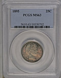 Barber Quarters: , 1895 25C MS63 PCGS. PCGS Population (32/72). NGC Census: (34/65).Mintage: 4,440,880. Numismedia Wsl. Price: $424. (#5610)...