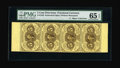 Fractional Currency:First Issue, Fr. 1229 5¢ Milton 1R5.2e First Issue Vertical Strip of Four PMG Gem Uncirculated 65 EPQ....