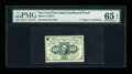 Fractional Currency:First Issue, Milton 1E10F.2 10¢ First Issue Cardboard Proof PMG Gem Uncirculated 65 EPQ....