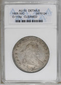 Early Half Dollars: , 1806 50C Pointed 6, Stem--Cleaned--ANACS. AU50 Details. O-118a. NGCCensus: (54/252). PCGS Population (53/161). Mintage: 83...