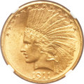 Indian Eagles, 1911-S $10 MS63 NGC....