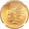 Indian Eagles, 1912-S $10 MS62 NGC....