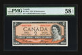 Canadian Currency: , BC-38aA $2 1954 Modified Portrait.. ...