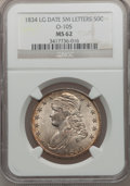 Bust Half Dollars, 1834 50C Large Date, Small Letters MS62 NGC. O-105, R.1....