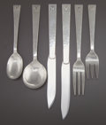 Silver Flatware, American:Other , A SIXTY-SIX PIECE ALLAN ADLER SILVER STARLIT PATTERNFLATWARE SERVICE . Allan Adler, Inc, Studio City, Californi...(Total: 66 Items)