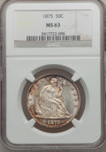 Seated Half Dollars, 1875 50C MS63 NGC....