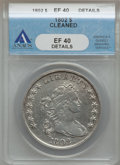 Early Dollars, 1802 $1 Narrow Date -- Cleaned -- ANACS. XF40 Details. B-6, BB-241,R.1....