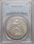 Seated Dollars, 1847 $1 AU58 PCGS....