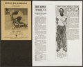 Olympic Collectibles:Autographs, Jesse Owens Signed Exhibition Program....