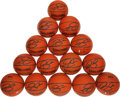 Basketball Collectibles:Balls, Ray Allen Signed Mini Basketballs Lot of 15....