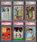 Baseball Cards:Lots, 1960's Topps & Post Cereal Mickey Mantle PSA-Graded Collection(6). ...