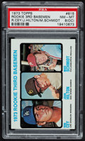 Baseball Cards:Singles (1970-Now), 1973 Topps Mike Schmidt/Ron Cey #615 PSA NM-MT 8 (OC)....