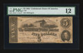 Confederate Notes:1862 Issues, T53 $5 1862 PF-9 Cr. 379.. ...