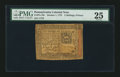 Colonial Notes:Pennsylvania, Pennsylvania October 1, 1773 2s 6d PMG Very Fine 25.. ...