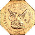 Territorial Gold, 1851 $50 RE Humbert Fifty Dollar, 880 Thous. AU50 NGC. K-5, LowR.5....